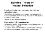 darwin s theory of natural selection
