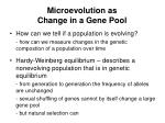 microevolution as change in a gene pool