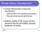 private sector development21