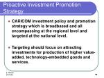 proactive investment promotion strategy