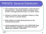trends sectoral distribution