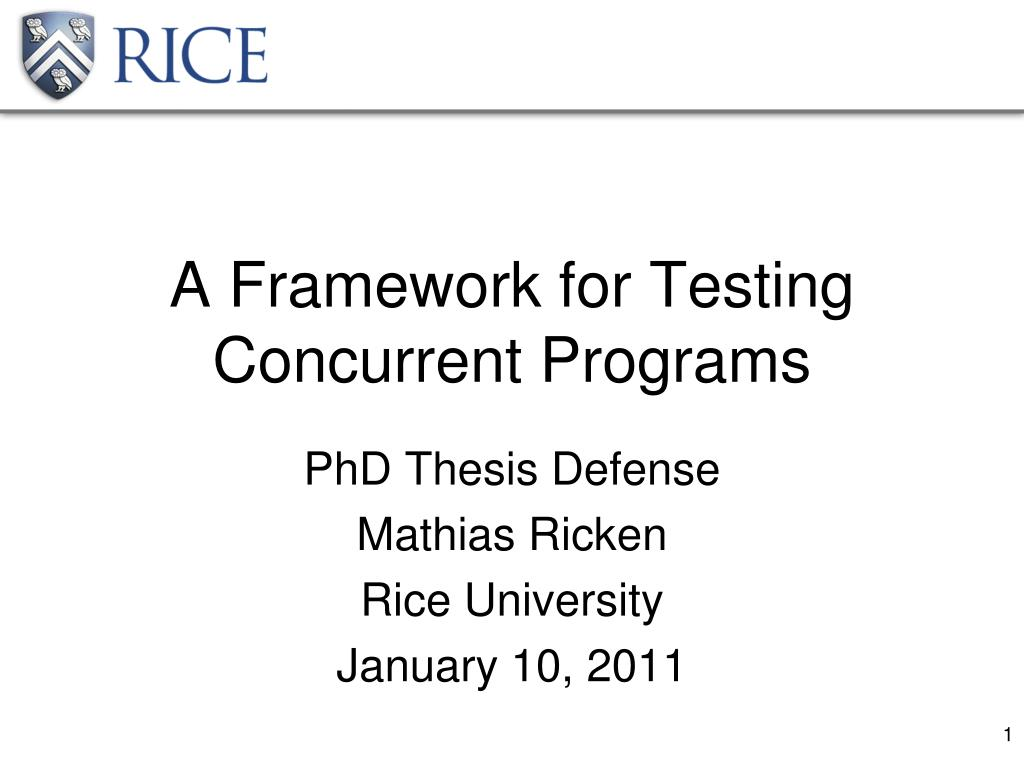 a framework for testing concurrent programs l.