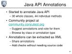 java api annotations