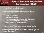 special purpose acquisition corporation spac