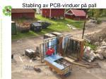 stabling av pcb vinduer p pall