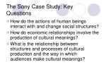 the sony case study key questions