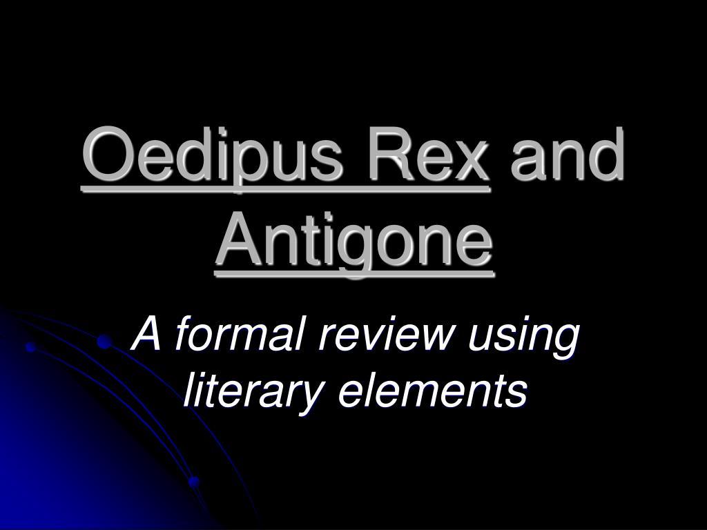 oedipus rex and antigone l.