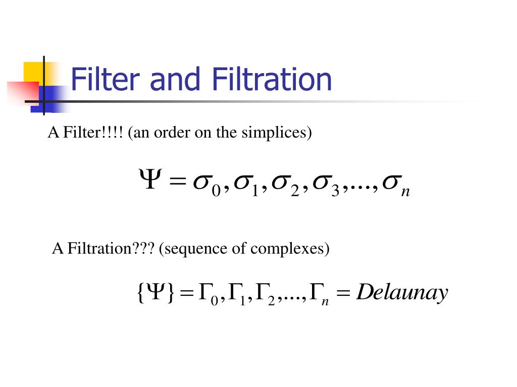 Filter and Filtration