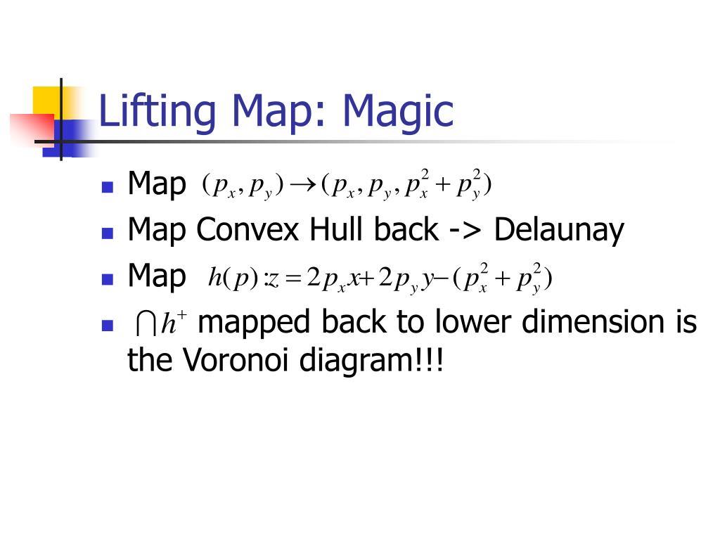 Lifting Map: Magic