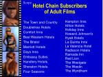 hotel chain subscribers of adult films