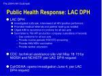 public health response lac dph