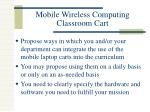 mobile wireless computing classroom cart
