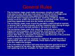 general rules8