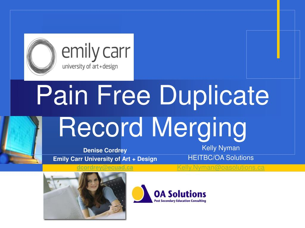pain free duplicate record merging l.