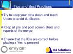 tips and best practices