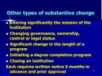 other types of substantive change36