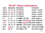 dlxv vector instructions