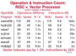 operation instruction count risc v vector processor from f quintana u barcelona