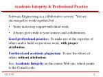 academic integrity professional practice