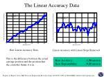 the linear accuracy data