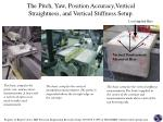 the pitch yaw position accuracy vertical straightness and vertical stiffness setup
