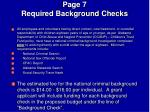 page 7 required background checks