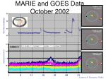 marie and goes data october 2002