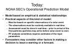 today noaa sec s operational prediction model