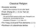 classical religion