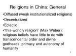 religions in china general