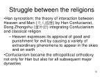 struggle between the religions
