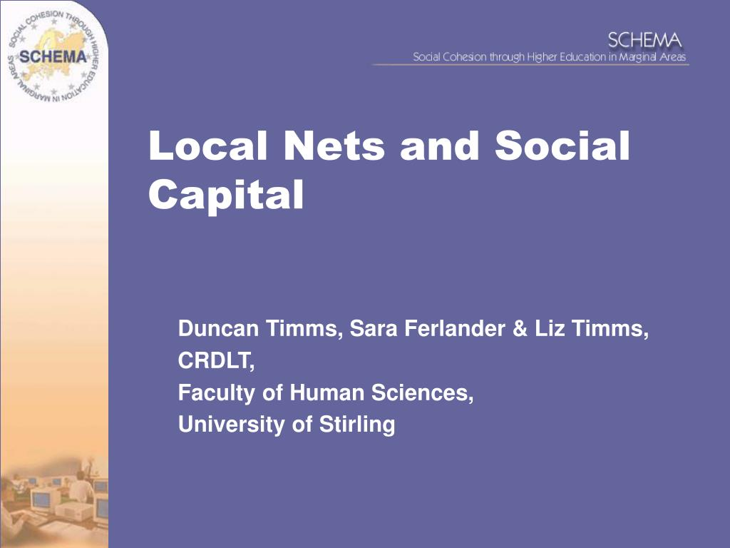 local nets and social capital l.
