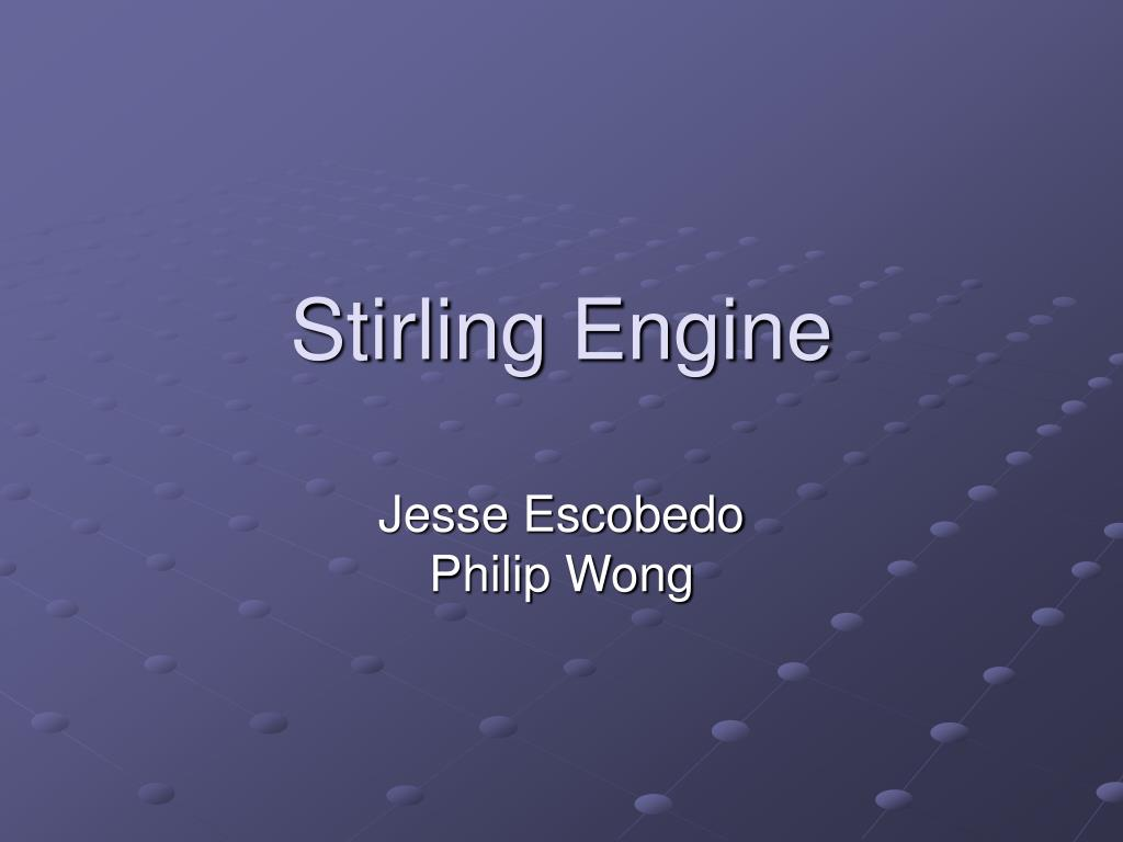 stirling engine l.