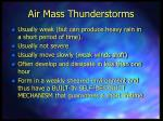 air mass thunderstorms