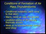 conditions of formation of air mass thunderstorms