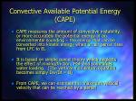 convective available potential energy cape