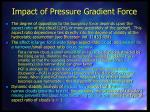 impact of pressure gradient force73