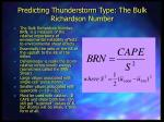 predicting thunderstorm type the bulk richardson number