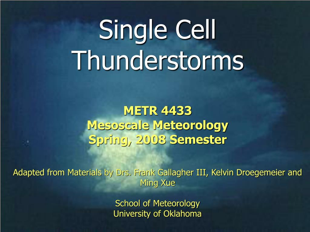 single cell thunderstorms l.