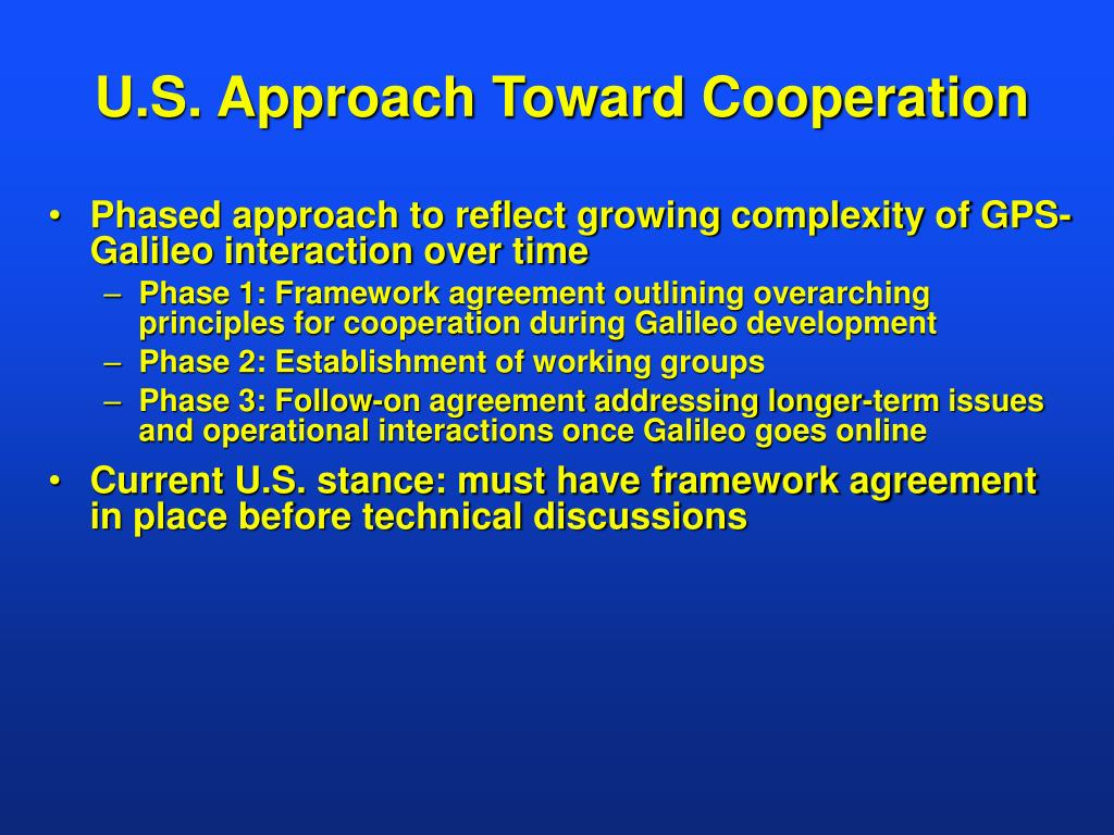 U.S. Approach Toward Cooperation