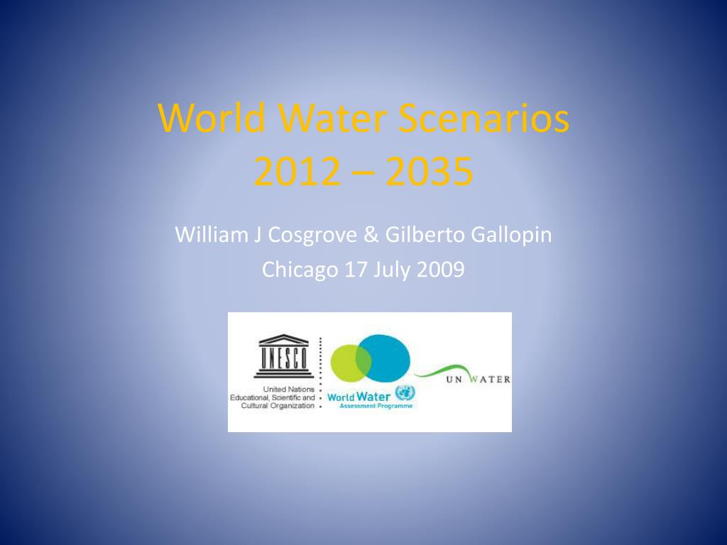 world water scenarios 2012 2035 l.