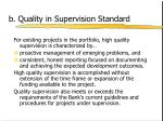 b quality in supervision standard