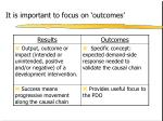 it is important to focus on outcomes