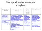 transport sector example storyline