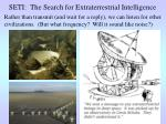 seti the search for extraterrestrial intelligence