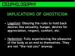 implications of gnosticism
