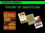 theory of gnosticism