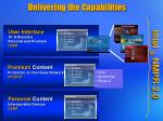 delivering the capabilities
