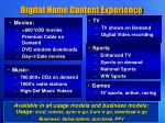 digital home content experience