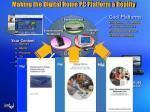 making the digital home pc platform a reality